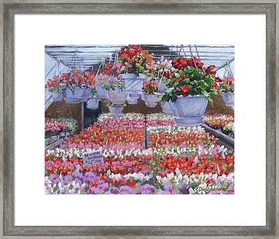 Blooms Ablaze Framed Print by L Diane Johnson