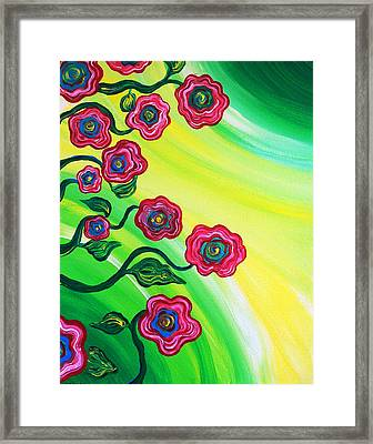 Blooms Framed Print by Brenda Higginson