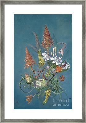 Blooms From The Bush Framed Print by Rita Palm