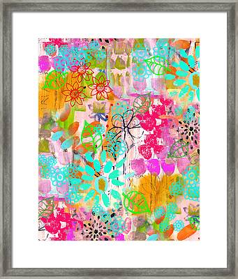 Blooms Framed Print by Robin Mead