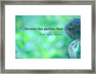Blooms The Garden Framed Print by Bonnie Bruno