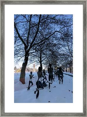Bloomsday Run Winter Finish Framed Print
