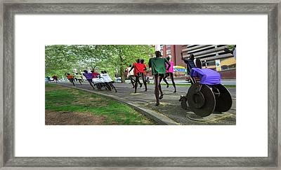 Bloomsday Spokane - Leaning Into The Finish Framed Print