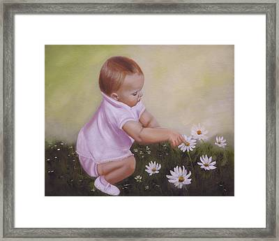 Blossom Among The Flowers Framed Print