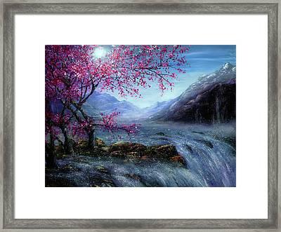Blossom Falls Framed Print by Ann Marie Bone