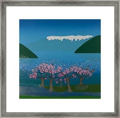 Blossom In The Hardanger Fjord Framed Print by Jarle Rosseland