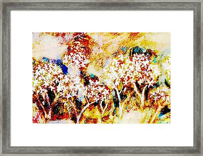 Framed Print featuring the painting Blossom Morning by Winsome Gunning