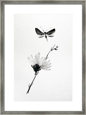 Blossomfly Framed Print by Sibby S