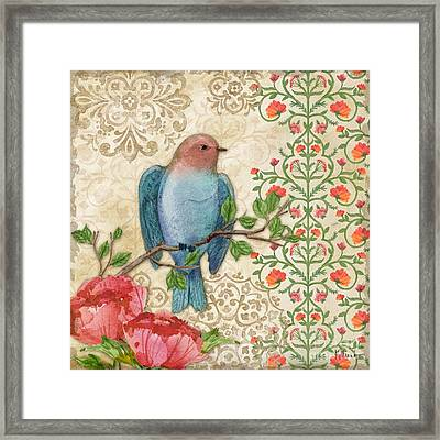 Blossoming Birds IIi Framed Print by Paul Brent