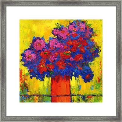 Blossoming Joy Framed Print by Patricia Awapara
