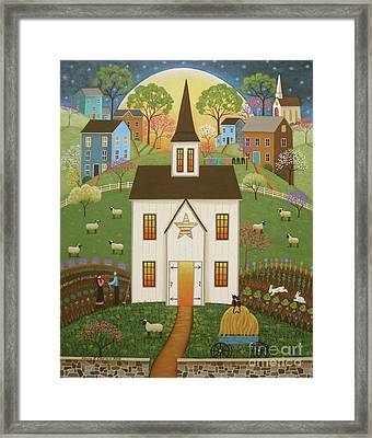 Blossoming Love Framed Print by Mary Charles