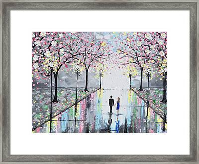 Blossoming Romance Framed Print by Christine Krainock