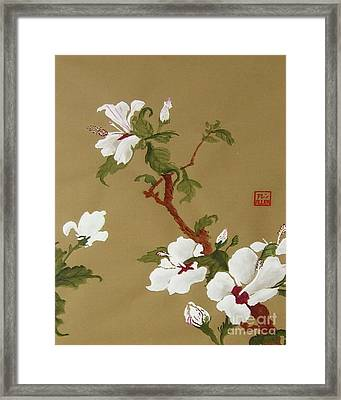 Blossoms - Chinese Watercolor Painting Framed Print