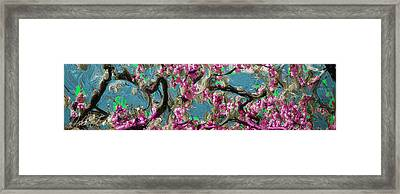 Framed Print featuring the digital art Blossoms And Branches by Dale Stillman