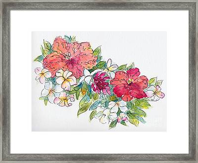 Blossoms Of French Polynesia Framed Print