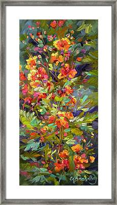Framed Print featuring the painting Blossoms Of Hope by Chris Brandley