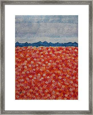 Blossomtime Original Painting Framed Print by Sol Luckman