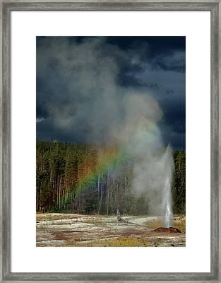 Blow Hole Rainbow Framed Print