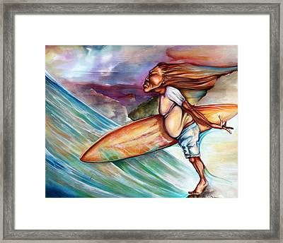 Blow In The Wind Framed Print by Robert  Nelson