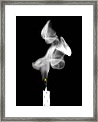 Framed Print featuring the photograph Blow Out by Diana Angstadt