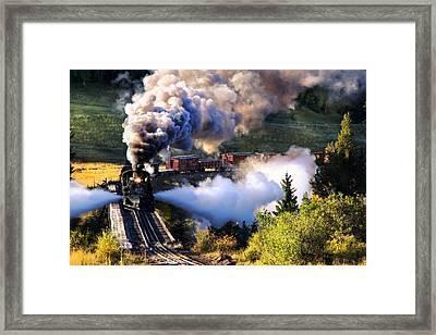 Blowdown On Lobato Trestle Framed Print by Ken Smith