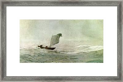 Blowen Away Framed Print by Winslow Homer