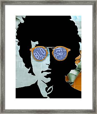 Blowin In The Wind Bob Dylan Framed Print