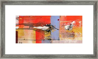 Blowin In The Wind - Colorful Linear Abstract Art Study Framed Print by Modern Art Prints