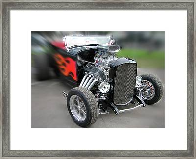 Blowin Off The Paint Framed Print by Gary Baird