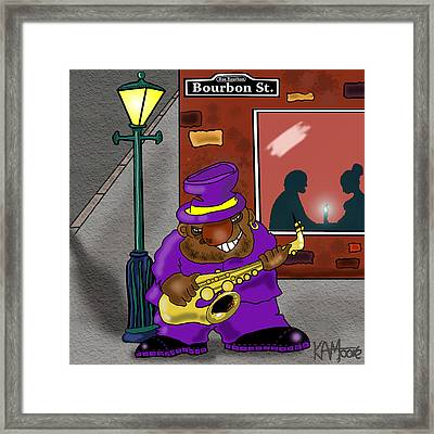 Blowin' On Bourbon Framed Print by Kev Moore