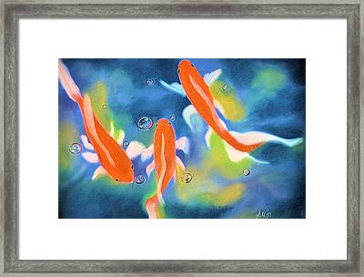 Blowing Bubbles 1 Framed Print by Jan Amiss