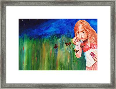 Blowing Butterflies Framed Print by Ned M Stacey Sr