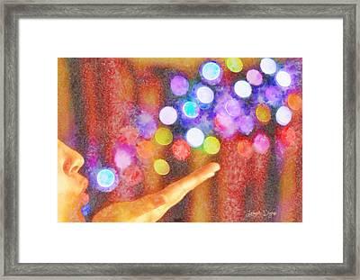 Blowing Colors - Da Framed Print