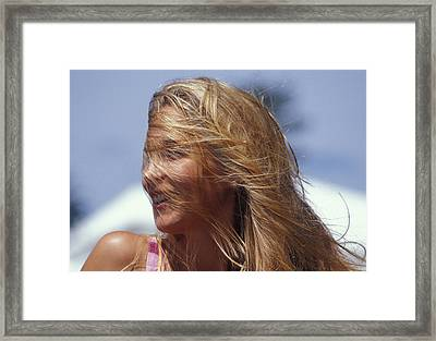 Blowing In Th Wind Framed Print by Carl Purcell