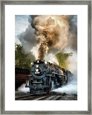 Blowing Its Stack Framed Print