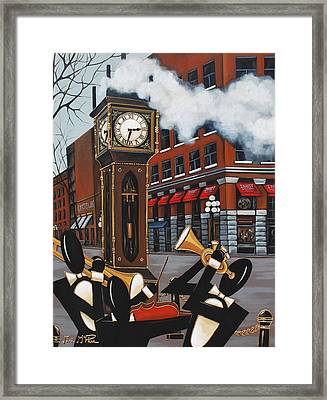 Blowing Off Steam Framed Print