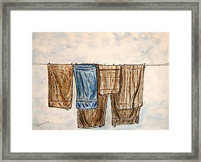 Blowing On The Wind. Framed Print