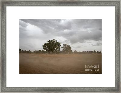 Blowing Up A Storm Framed Print