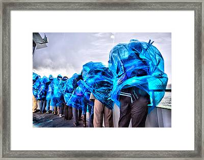 Blown Away By The Beauty Of It Framed Print by Russell Styles