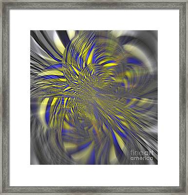 Blown By The Wind Framed Print by Fania Simon