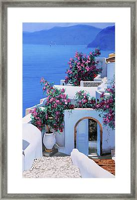 Blu Di Grecia Framed Print by Guido Borelli
