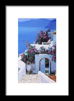 Greece Framed Prints