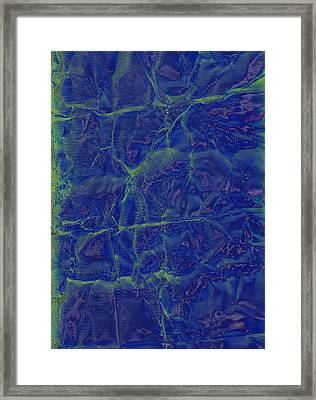 blu Framed Print by Eileen Shahbazian