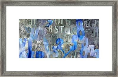 Blu Framed Print by Guido Borelli