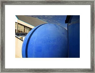 Bluball Framed Print by Jez C Self