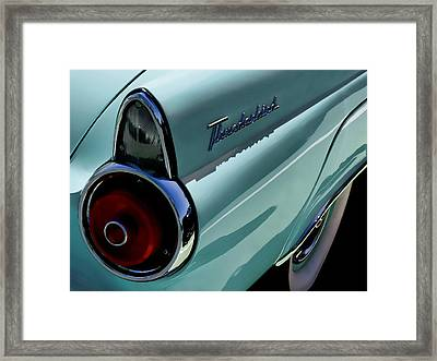 Blue 1955 T-bird Framed Print