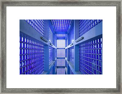 Blue 2 Framed Print by Marc Huebner