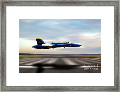 Blue 5 Framed Print