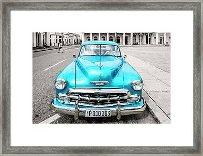Framed Print featuring the photograph Blue 52 by Lou Novick