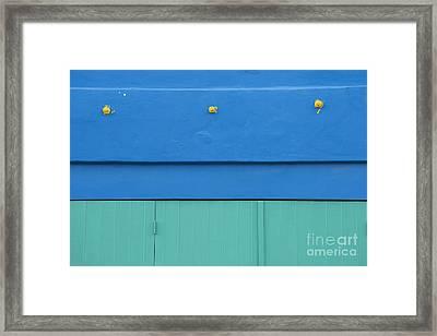 Blue Architectural Detail Framed Print